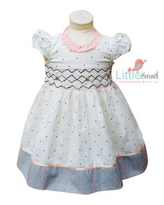 Gorgeous hand smocked toddler dress with hand by LittleSmock
