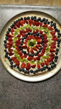 Fruit pizza is always a tasty treat #TTDD