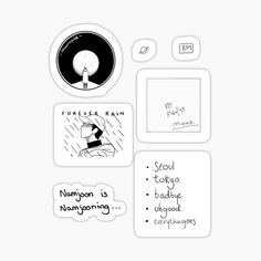 Namjoon, Yoongi Bts, Bts Taehyung, Bts Jungkook, Pop Stickers, Kawaii Stickers, Printable Stickers, Bts Tickets, Theme Bts