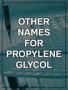 Possibly the trickiest part of being allergic to chemicals is that they can  have aliases. This complicates the situation because not only are you  scouring ingredient lists for one thing... you now have to look out for a  bazillion other names.  When it comes to propylene glycol (one of my mos
