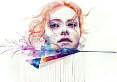 Color Inside + Conspiracy of Silence // Watercolor by Agnes Cecile