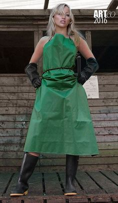 Latex, Pvc Apron, Wellies Rain Boots, Rubber Gloves, Rain Wear, Blouse, Female, Aprons, Womens Fashion