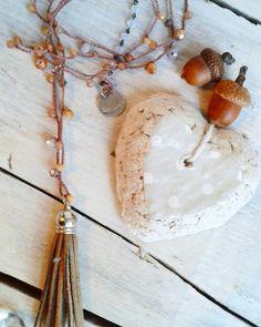 Collana crochet fatta a mano all'uncinetto Saltinmente handmade