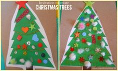 Busy Hands: Making Christmas Trees (and Free Printable) | Sand In My Toes