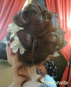 Curls wedding hair updo by sara