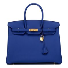 Hermes Blue Electric (Bleu Electrique) Birkin 35cm of togo leather with gold hardware. AVAILABLE NOW For purchase inquiries, Please Contact: Email: info@madisonavenuecouture.com I Call (212) 207-4572 I WhatsApp (917) 391-2281 Direct Message on Instagram: @madisonavenuecouture Guaranteed 100% Authentic | Worldwide Shipping | Bank Transfer or Credit Card