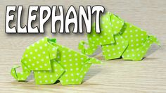 Elephant Origami :: How to make a cute little baby elephant with paper f...
