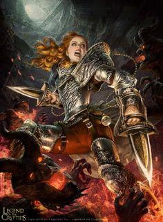 Will Murai ilustrações fantasia mitologia games cards