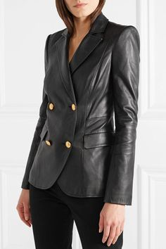 L'Agence | Patton leather blazer | NET-A-PORTER.COM