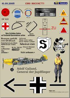 Dazzling Vintage Aircraft: The Major Attractions Of Air Festivals Luftwaffe, Ww2 Aircraft, Military Aircraft, Adolf Galland, Pilot Uniform, Aircraft Painting, Ww2 Planes, Battle Of Britain, Aircraft Design