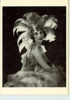 Anna Pavlova Postcard by James Abbe. Photo from 1928.