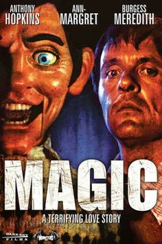 Magic poster, t-shirt, mouse pad What Is Scary, Best Classic Movies, Late Night Movies, Richard Attenborough, Psychological Horror, Ann Margret, Anthony Hopkins, The Magicians, Horror Movies