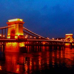 Beautiful bridge in Budapest, 2010 March