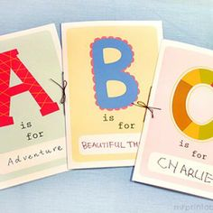 Printable ABC Book {Letters} #printable - easily customizable for each kid!