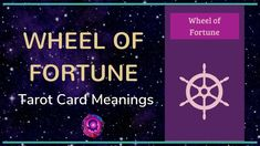 Wheel of Fortune Tarot Card Meanings Wheel Of Fortune Tarot, Free Tarot, Tarot Card Meanings, Major Arcana, Tarot Cards, Meant To Be, Videos, Tarot, Video Clip