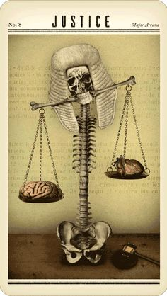 VIII. Justice  - Zombie Tarot by Paul Kepple