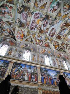 Los frescos d Miguel Angel en el Vaticano. Muero x ir a verlos