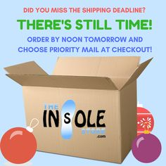 Last chance for holiday delivery! www.theinsolestore.com