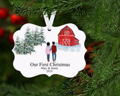 First Christmas Ornament, Our First Christmas Ornament, First Christmas Married, Mr and Mrs First Christmas, Mr and Mrs Ornament, Our First Christmas Ornament, First Christmas Married, Personalized Christmas Ornaments, Christmas Is Coming, Christmas 2019, Merry Christmas, Holiday Ideas, Christmas Ideas, Christmas Crafts