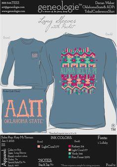 OSU ADPi Tribal Shirts!  Represent Okstate!