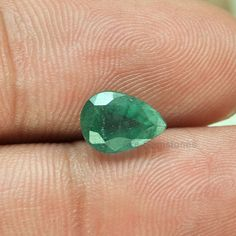 1.59Cts. Genuine Zambian Emerald Pear Cut  Loose by AceGemstones