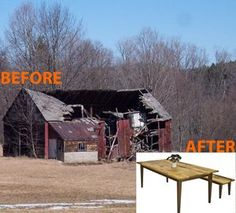 Recycling old barns into fine furniture