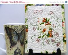 30 OFF SALE Mini Quilted Wall Hanging by thebutterflyquilter, $14.00