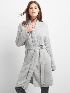 Gap Cable-knit quilted robe