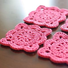 Square Flower Coasters Crochet Pattern PDF by hennasboutique