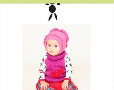 Barbora hat for baby, handmade, knitted, Knit Baby Hat, Baby Girl Hat, Knit Hats, Baby Knit Hat, Baby Hats for Girls, Winter Baby Girl Hats