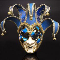 Jester Mask, Jester Costume, Mens Masquerade Mask, Masquerade Ball, Mardi Gras, Venetian Costumes, Venetian Masks, Anonymous Mask, Venice Mask