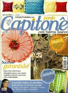 Artesanato com amor...by Lu Guimarães: Ponto Capitoné Revista Completa