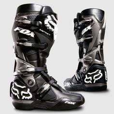 Fox Racing Instinct Boots Dirt Bike Motocross - shiaat these are seriously nice boots! Dirt Bike Boots, Dirt Scooter, Mx Boots, Dirt Bike Helmets, Dirt Bike Gear, Dirt Biking, Fox Motocross Boots, Motocross Gear, Equipement Cross