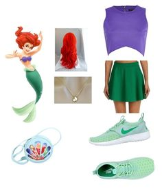 """""""Ariel 1"""" by harleyquinnforever ❤ liked on Polyvore featuring beauty, River Island and NIKE"""