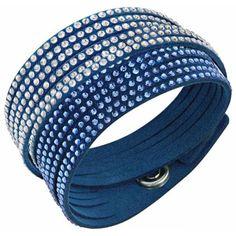 pulsera swarovski slake blue 2 in 1 5142964