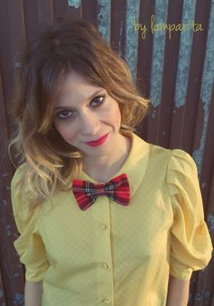 BOW TIE_ and hair accessory _DIYhttp://lascositasdelamparita.blogspot.com.es/2013/12/bow-tie-and-hair-accessory-diy.html