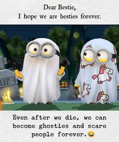 To all my besties ! Exam Quotes Funny, Best Friend Quotes Funny, Birthday Quotes For Best Friend, Cute Funny Quotes, Besties Quotes, Bestfriends, Birthday Wishes, Birthday Ideas, Funny Minion Memes