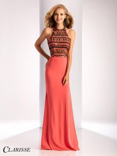 CLARISSE - Spring 2017- Clarisse Fitted Sequin Prom Dress Style 3181
