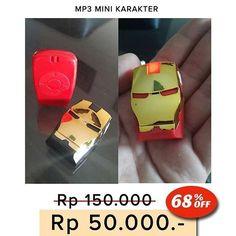 NEW  MP3 PLAYER KARAKTER Hello Kitty dan Iron Man Captain America Doraemon minion  Ukuran mini & unik - Memutar lagu-lagu MP3 dengan MicroSD. - Kualitas suara jernih - Kelengkapan: earphone dan usb cable data - Box Mika  Harga 50.000  Order:  Line : @ AZZAGADGET (pakai @ ya) Whatsapp : 081357776262  #mp3playerkarakter #mp3playerkarakterhellokitty #mp3playerkarakterironman #mp3playerkaraktermurah #mp3playerkaraktermurmer #mp3playerkaraktertermurah #mp3player #mp3playermurah #mp3players…