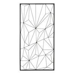 Wanddekoration NETWORK aus Metall, 62 x 121 cm, schwarz