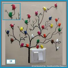 DIY And Household Tips: Turn Pistachio Shells Into A Cute Bird Wall Decora...