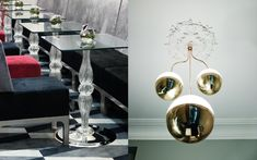 We are a global and creative design studio in Geneva, Tokyo and Beijing. Red Sofa, Black Sofa, Glass Tables, Round Chandelier, Interior Architecture, Interior Design, Velvet Armchair, Paris Restaurants, Paris France