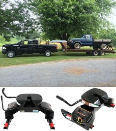One POWERFUL accessory for the Ford Super Duty series! Reese Elite Series Pre-Assembled 5th wheel hitch with slider and wiring harness - a beast when it comes to towing!