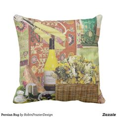 Persian Rug Throw Pillows