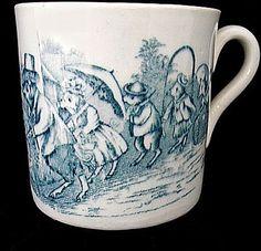 Child's 19th Century ABC Mug ~ Three Little Pigs ~ Nursery Tales
