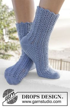 Crochet DROPS socks in
