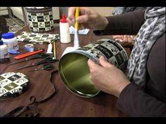 20120611 Forração de lata com tecido - YouTube