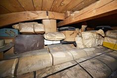 Family fled Czechoslovakia in WWII - child, now 80 yrs old, remembers there was a secret space in the attic storing items. Amazing piece of preserved history. Hiding Spots, Hiding Places, School Tables, Secret Space, Hidden Treasures, World War Two, Mind Blown, Old Houses, Home And Family
