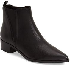 MARC FISHER LTD 'Yale' Chelsea Boot Clean, modern angles are the name of the game on this pointy-toe Chelsea boot that demonstrates poised, everyday sophistication. Style Name:Marc Fisher Ltd 'Yale' Chelsea Boot (Women) Best Ankle Boots, Ankle Booties, Minimalist Shoes, Minimalist Living, Mid Heel Shoes, High Heels, Shoe Collection, Comfortable Shoes, Shoes Online
