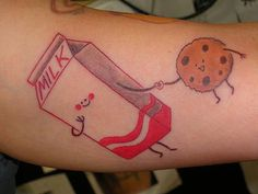 Milk and cookie tattoo...so sweet!
